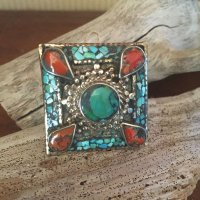 TurquoiseSquare Silver Ring