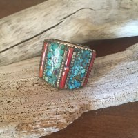 Turquoise  Bohemian  Silver Ring