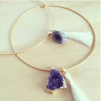Crystalpoint Tassel Necklace
