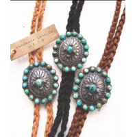 Concho×Leather×Turquoise Necklace