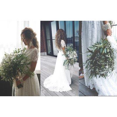画像1: Bridal Dress (2ピースフロントミニバックロング)