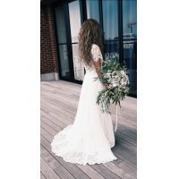 Bridal Dressレンタル (2ピースフロントミニバックロング)