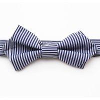 orgablanca  Stripe Navy bow tieレンタル(ストライプネイビー蝶ネクタイ)