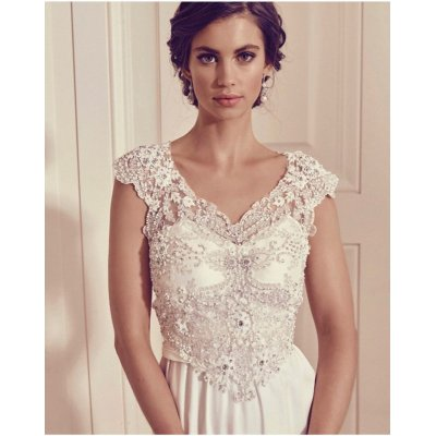 画像1: Anna Campbell Bridal Dress レンタル(Slimline Lace)